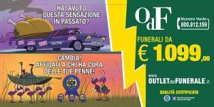 Outlet del Funerale Pubblicità contro i prezzi dei funerali