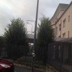 Cartello pubblicitario di ODF rimosso da vandali nei pressi della struttura San Faustino