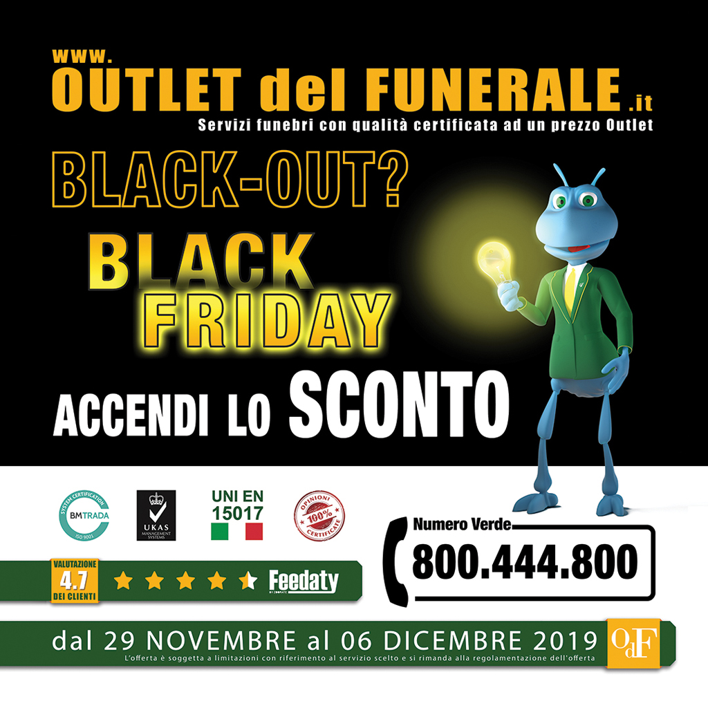 Black friday 2019 all'Outlet del Funerale