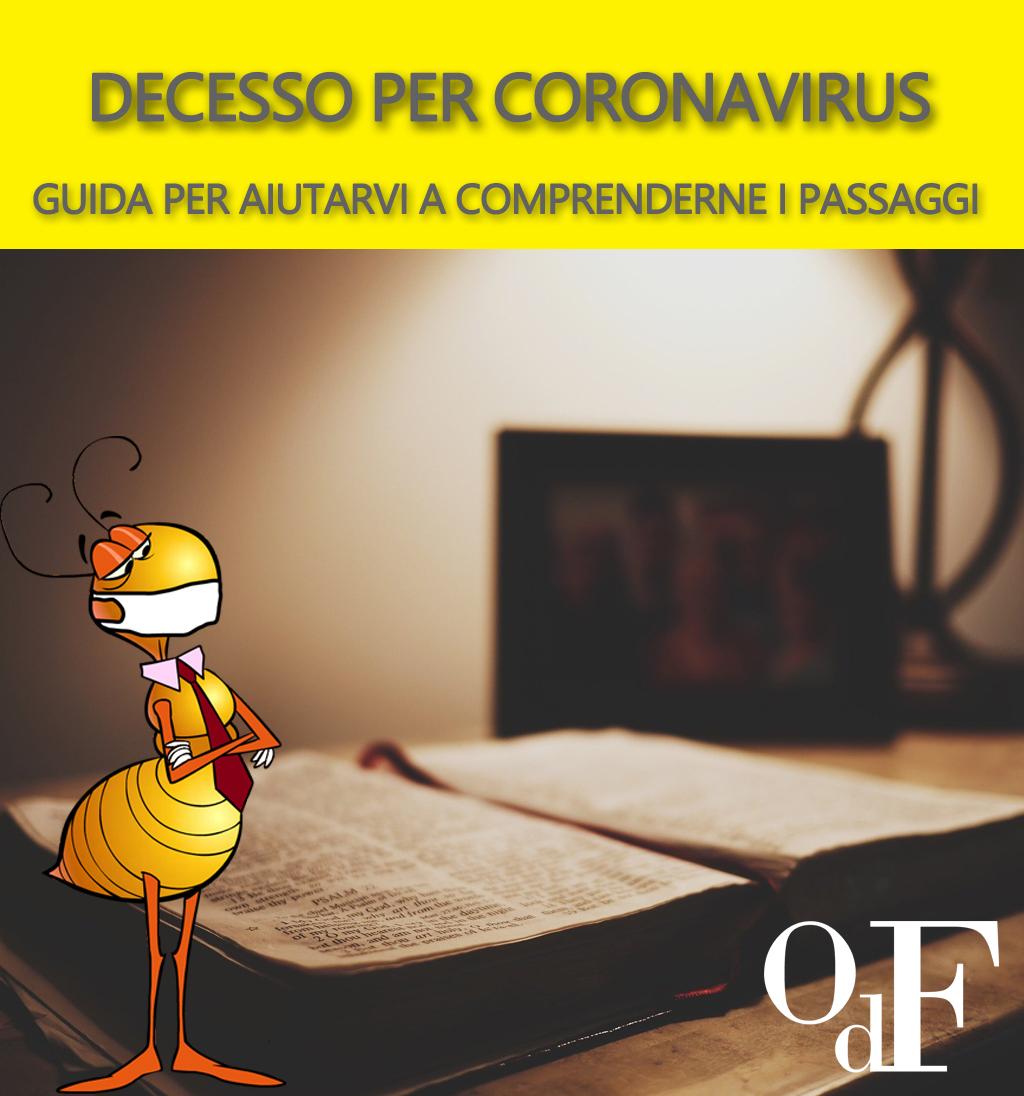 Decesso per coronavirus (covid-19): Cosa succede? Cosa si deve fare? Come viene organizzato il funerale?