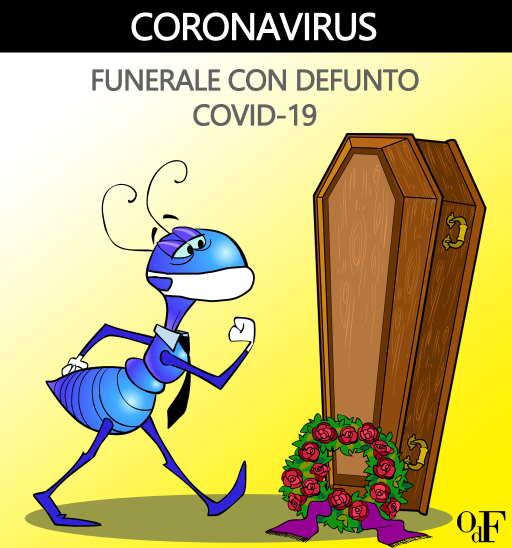 Funerale con defunto coronavirus (covid-19): Outlet del Funerale contiene l'aumento di soli 100 euro