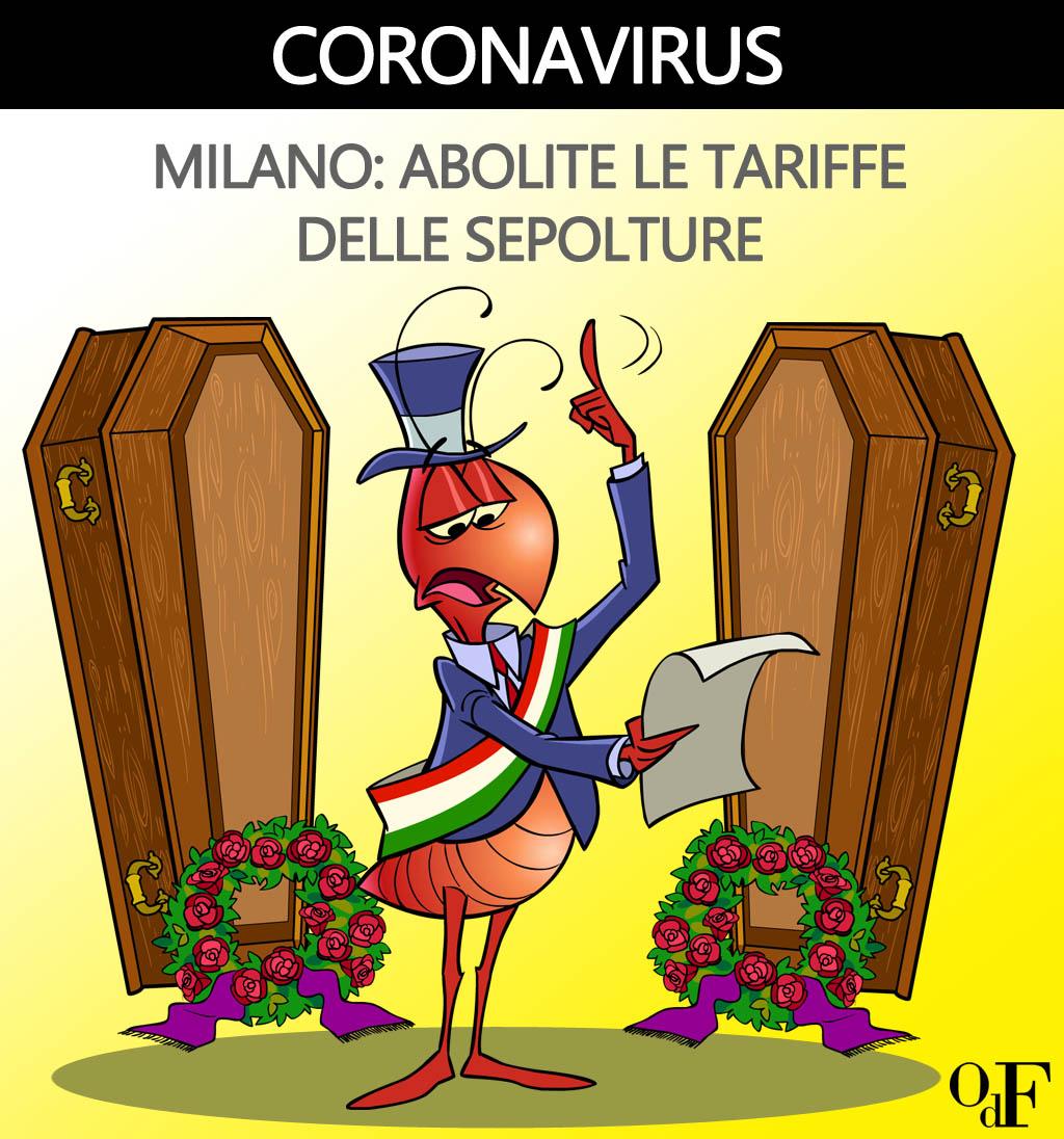 Emergenza coronavirus: cambiano le regole per la cremazione nel Comune di Milano. E vengono abolite le tariffe per le sepolture