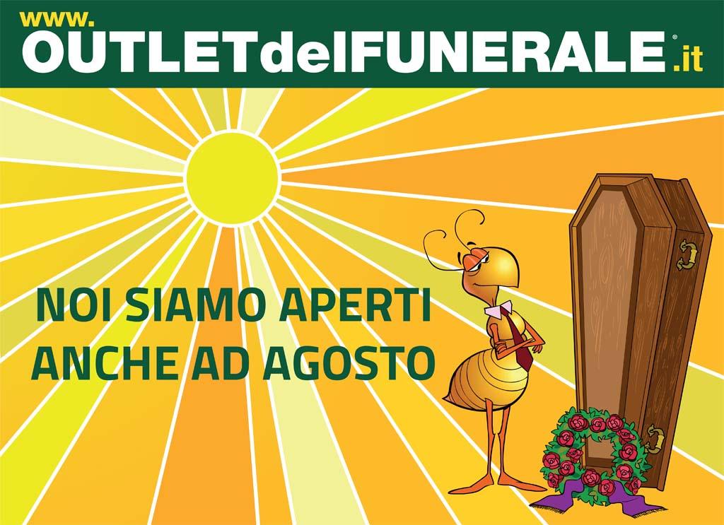 Funerale ad agosto? Servizio funebre continuo anche durante l'estate con Outlet del Funerale