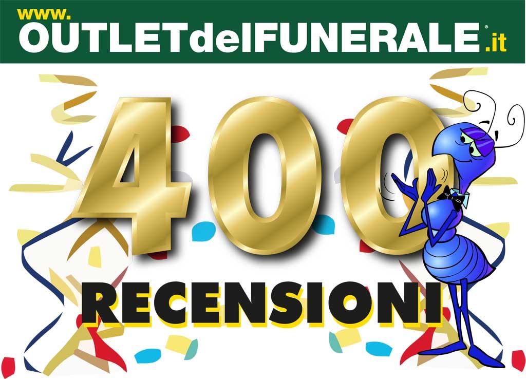 Superato il muro delle 400 recensioni. Outlet del Funerale incassa il favore dei clienti per i servizi funebri erogati